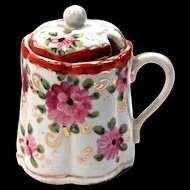 MUSTARD POT - Hand Painted Chinese Export