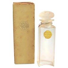 AMBRE ANTIQUE de COTY. Eau de Toilette Scent/Perfume Bottle - Lalique for Coty