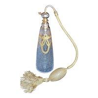 BACCARAT - 18K Gold Gilded & Etched Art Glass Perfume Atomizer signed Marcel Franck - Le Porisatura France