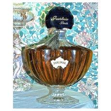 SHALIMAR FACTICE by Guerlain Paris - Giant Baccarat Perfume Display Bottle - RARE