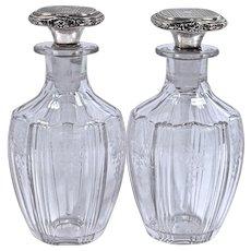 Pr. HAWKES Cut Crystal Perfume Bottles - R. Blackinton & Co.  Sterling Daubers/Stoppers