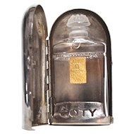 L'AIMANT Lalique for Coty Perfume Bottle in Holder/Travel Case - Lalique Bottle (Empty)