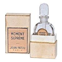MOMENT SUPREME by Jean Patou - Bottle Designed by Andre Mare & Louis Sue - Original Box