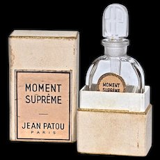 MOMENT SUPREME by Jean Patou - Bottle Designed by Andre Mare & Louis Sue - Original Box