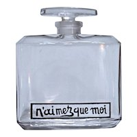 N'Aimez Que Moi - Baccarat Perfume Bottle for Coty - 1917