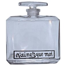 N'Aimez Que Moi - Baccarat Perfume Bottle for Coty - 1917