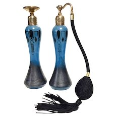 VOLUPTE Blue Deco Perfume Atomizer and Dauber Set