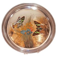 "WALLACE  Sterling Silver ""Butterfly Tray"""