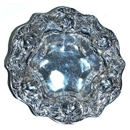 WHITING GORHAM - Sterling Silver - Repousse Rose Dish Candy Nut Bowl
