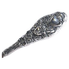 Art Nouveau Sterling File/Letter Opener - Girl with Flowing Hair & Roses