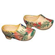 HB Faiencerie Stanniferous (tin-enameled) Glaze Miniature Pottery Shoes/Clogs
