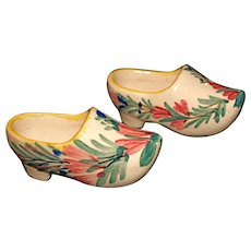 HB Faiencerie Stanniferous (tin-enameled) Glaze Miniature Pottery Shoes/Clogs