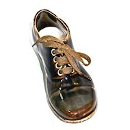 German Oxford Souvenir Brown Oxford Shoe - Circa 1900