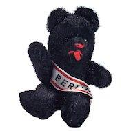 BERLIN BEAR - Schuco Miniature Black Mohair Jointed Bear