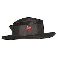 Antique Alzee Black Beaver Hat