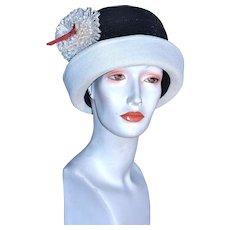 MISS CARNEGIE Flapper Cloche Hat by Hattie Carnegie