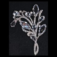 EISENBERG ORIGINAL Huge Sterling Silver Fur Clip, Signed - Ca. 1930
