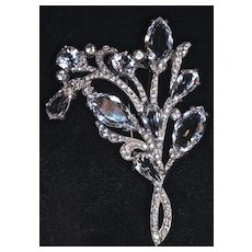 EISENBERG ORIGINAL Huge Sterling Silver Fur Clip, Signed - Ca. 1930