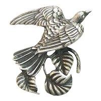 Three Dimensional Sterling Silver Dove Pin