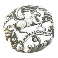 Peruzzi Zodiac Brooch Capricorn Sterling Silver