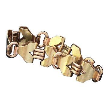 Kreisler Two-Tone Gold Filled Retro Bracelet