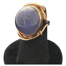 Chalcedony Domed Ring 14K Gold 18K Gold