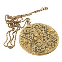 Large Antique Gold Filled Locket by W. & S. Blackinton Co.