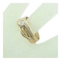 18K Snake Ring Diamond Full English Hallmarks 1900