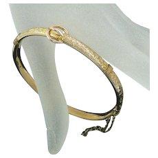 Edwardian 9 Carat Gold Buckle Bracelet Chester Signed