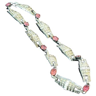 Art Deco Rhinestone Choker Necklace