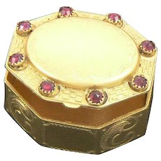 Gilt and Garnet Small Jeweled 19th Century Box