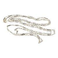 French Silver Long Guard Chain Muff Chain