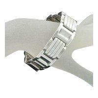 Sterling Silver Tank Bracelet Large Size