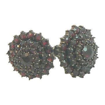Impressive Garnet Cluster Earrings