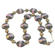 Venetian Wedding Cake Vintage Bead Necklace