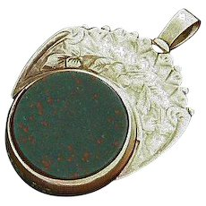 10K Gold Spinner Fob Carnelian and Bloodstone