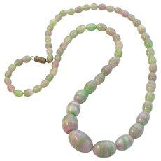 Satin Glass Murano Beads