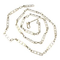 Maricela Hand Wrought Sterling Silver Chain Necklace