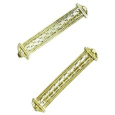 Pair of 10K Gold Lingerie Pins