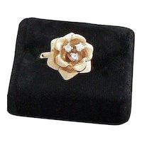 Blooming Rose 14K Gold Diamond Ring