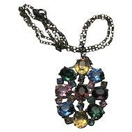 Czech Glass Pendant Necklace