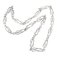 Italian Chain Link Sterling Silver Necklace