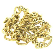 14K Gold Italian Link Chain Necklace