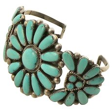 Zuni Turquoise Sterling Cuff by Julie O Lahi