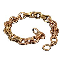 Two-Tone Double Link Gold Filled Charm Bracelet
