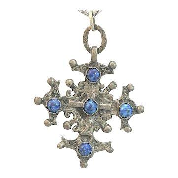 Maltese Italian Cross 800 Silver and Chain