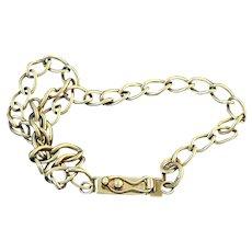 14K Gold Charm Link Bracelet
