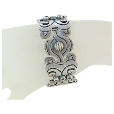 Hector Aguilar 940 Silver Mexican Bracelet