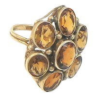 14K Gold Golden Citrine Ring Arts & Crafts