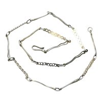 Fanciful Abstract Mexican Sterling Silver Chain Necklace